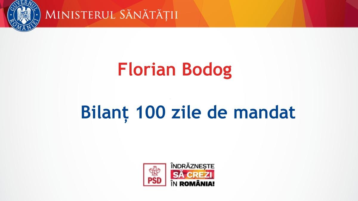 Bilanțul primelor 100 de zile ale mandatului de ministru al Sănătății